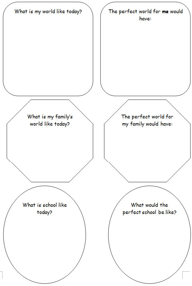 Worksheet 2: My Perfect World - Justice, Freedom and Peace / Part ...